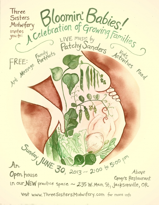 Bloomin' Babies: Three Sister Midwifery Open House Event June 30th