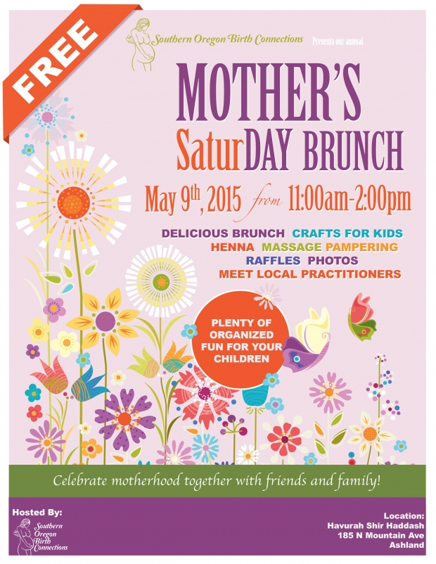 Annual SOBC Mother's SaturDay Brunch, Saturday, May 9, 2015